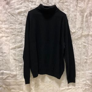 Mens XXL Saks Fifth Ave Cashmere Turtleneck Black